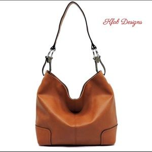 New! Brown Large Classic Bucket Bag
